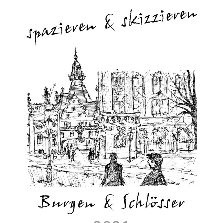 """Skizzenkalender """"Burgen & Schlösser"""" – DIN A3"""