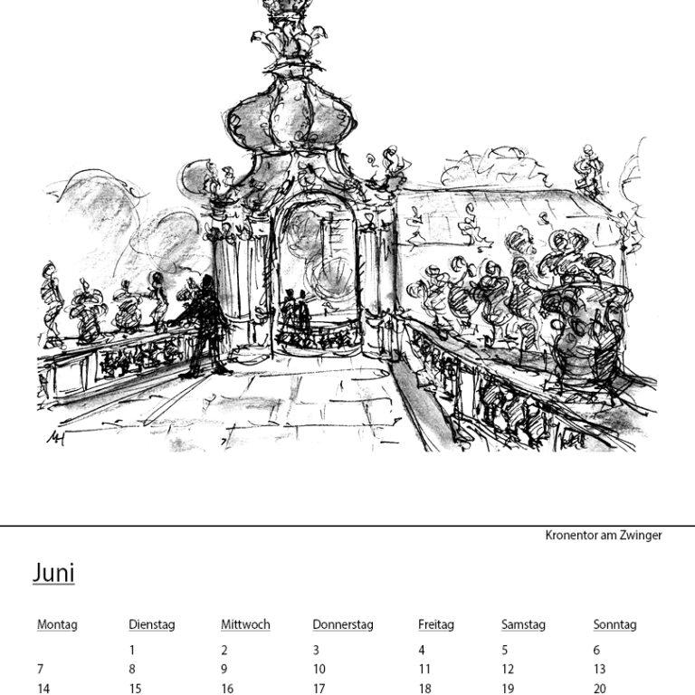 """Skizzenkalender """"Dresden 2021"""" – DIN A3"""